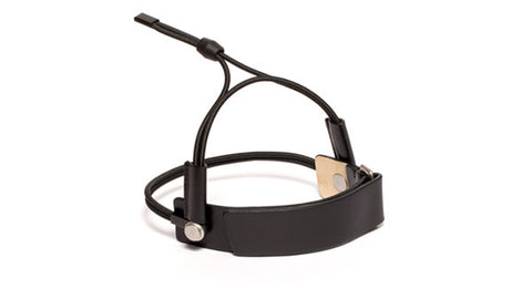 SC-25Y<br>Shoe Cuff in 25mm width with Ankle Strap<br>Black Calf Leather