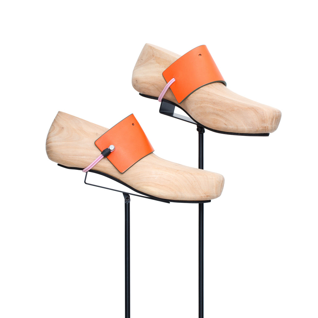 SC-65 <br> Shoe Cuff in 65mm width<br> Orange Calf Leather