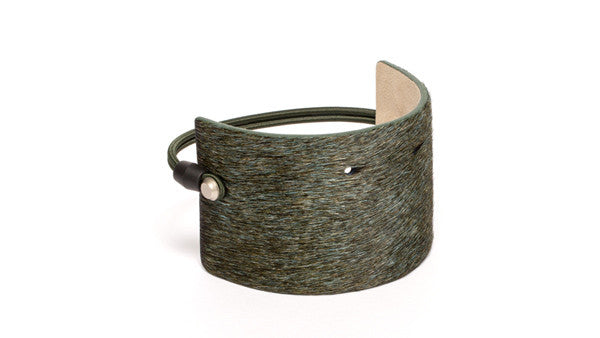 SC-65<br>Shoe Cuff in 65mm width<br>Green Calf Skin