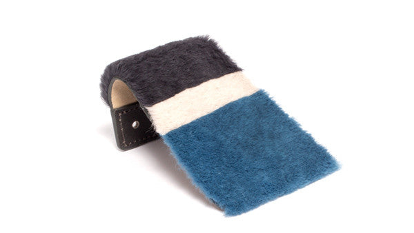 SC-70A<br>Shoe Cover in 70mm width<br>Light Blue Rex Fur