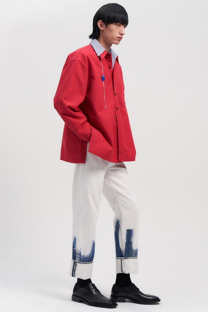 Red Woollen Overshirt
