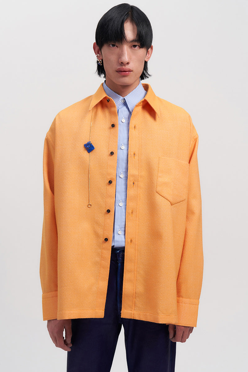 Orange Woollen Overshirt