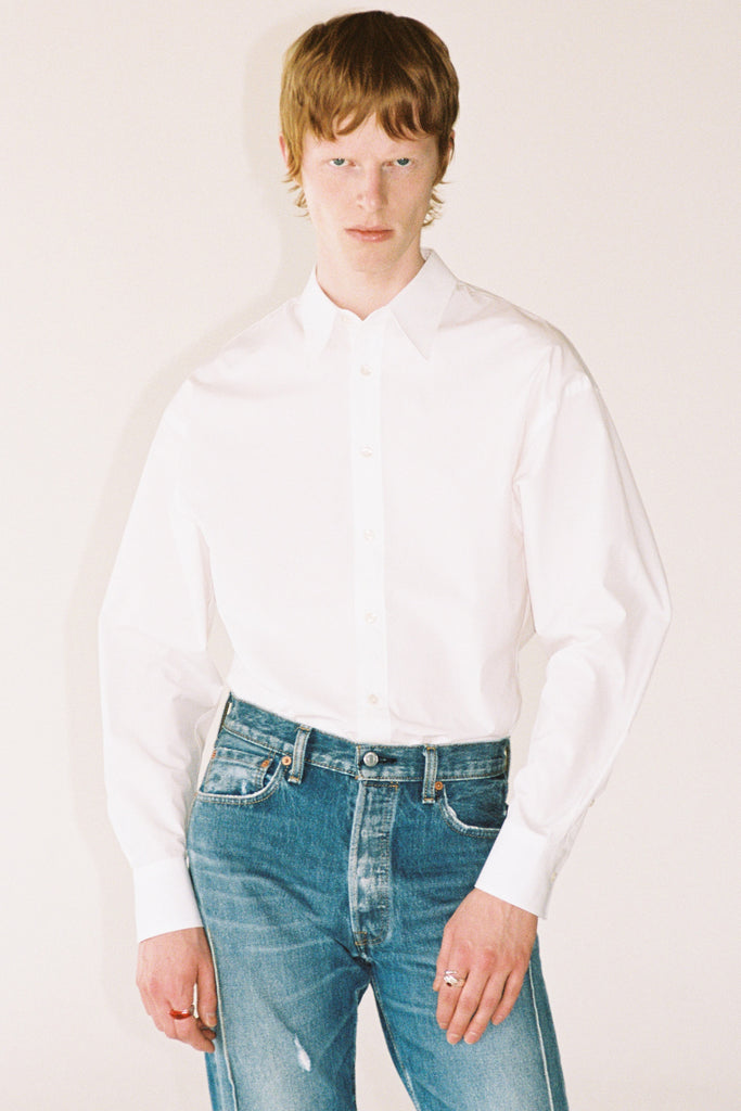 White Trapezium Shirt
