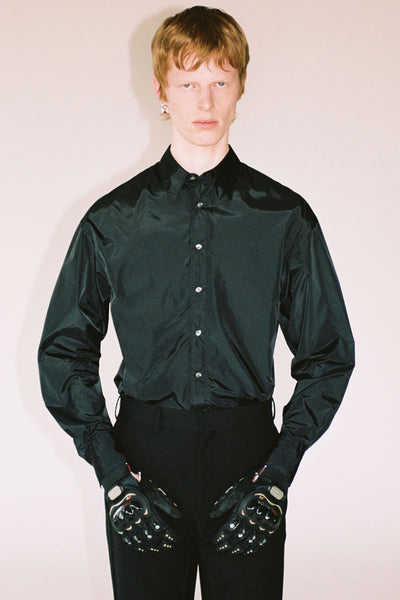 Black Nylon Trapezium Shirt