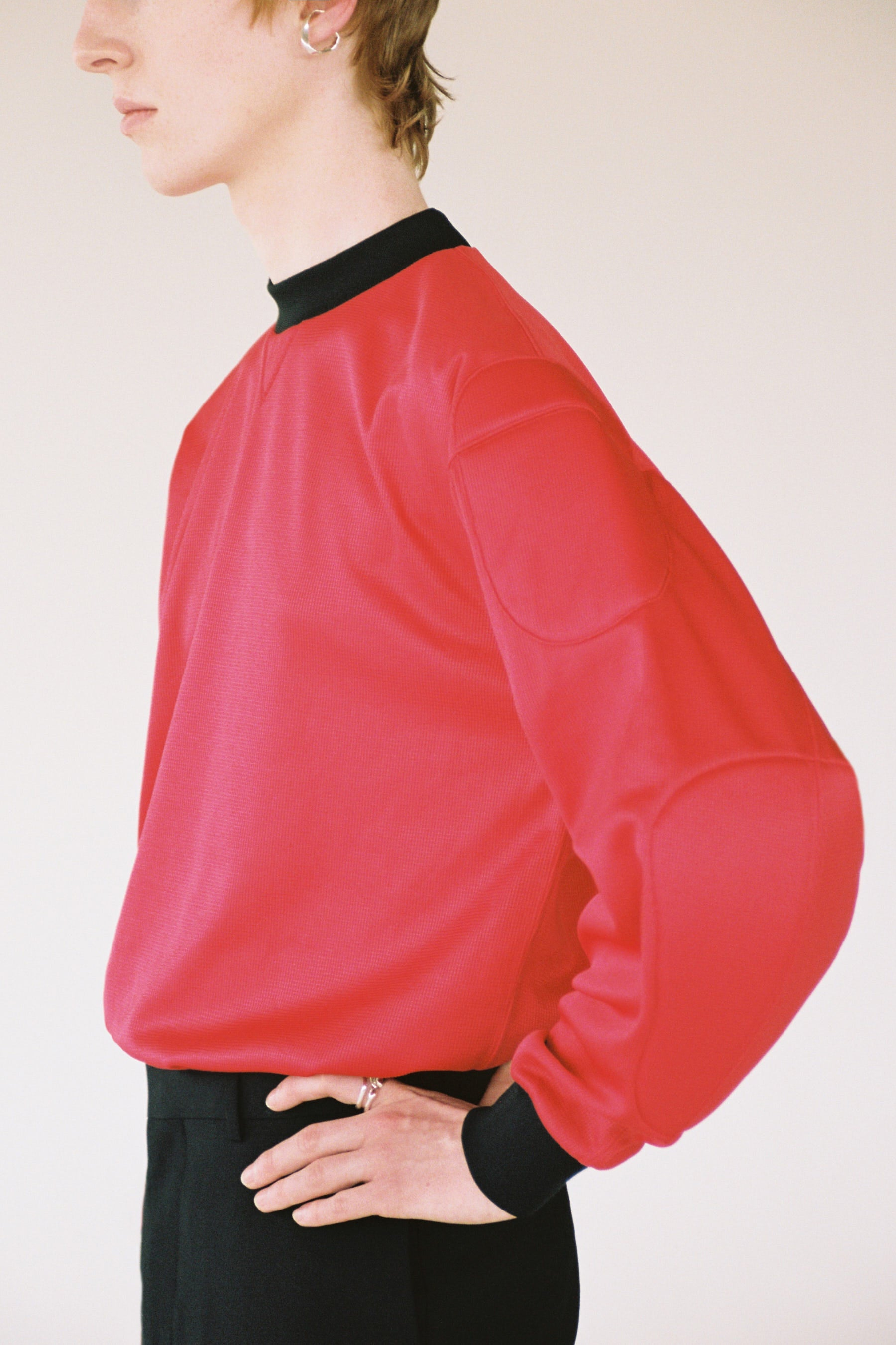 Red Strong Arm Padded Sweatshirt