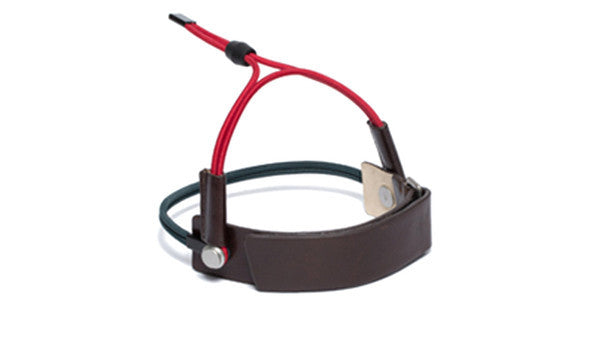 SC-25Y <br> Shoe Cuff in 25mm width with Ankle Strap <br> Brown Calf Leather