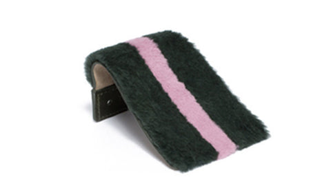 SC-70A <br> Shoe Cover in 70mm width <br> Green Rex Fur