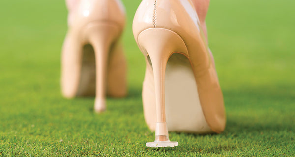 No More Sinking Feelings for Brides, Bridesmaids and Family members . . . When using Heel Stoppers.