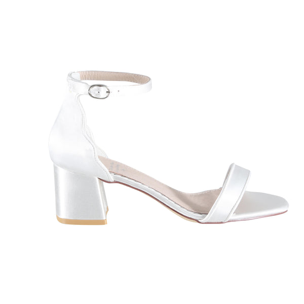 Taylor Ivory Satin Bridal Sandal in size UK 4 (EU 37)