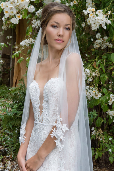 'Alice Springs' Floral Embellished Veil - New for 2018