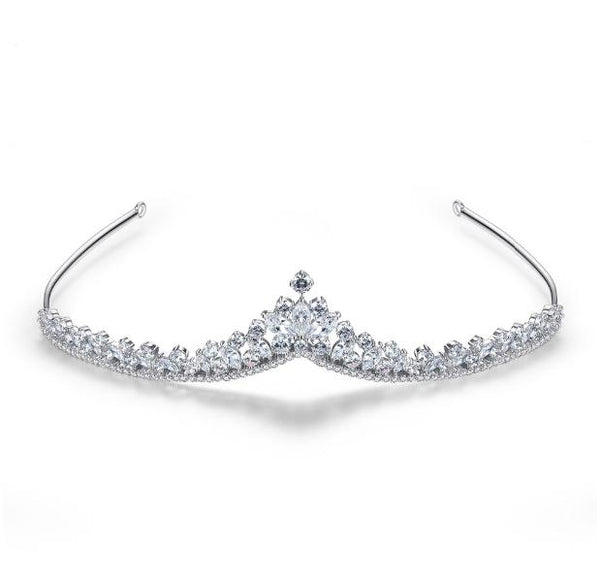 'Alicia' Simulated Diamond Traditional Tiara