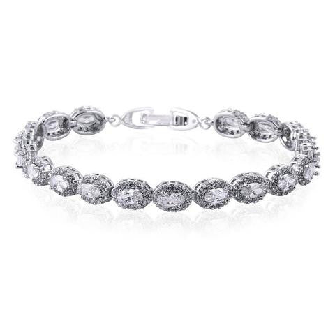 'Amalia' Simulated Diamond Bracelet