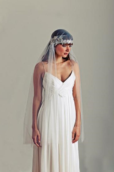 'Appledore' Embellished Cap Wedding Veil