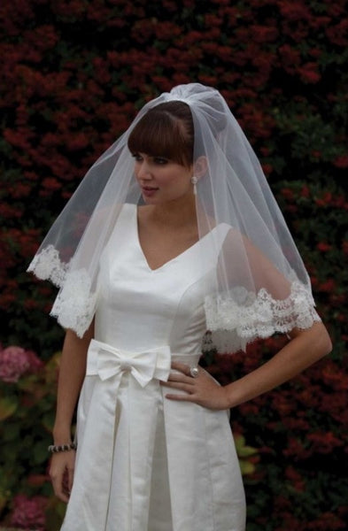 'Aruba' Lace Edged Wedding Veil