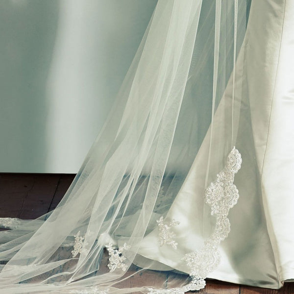'Bala' Lace Motifs and Edging Wedding Veil