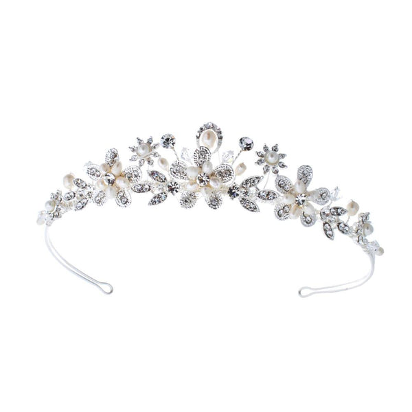 Princess of your dreams with the Bouquet Traditional Tiara as presented by Pink Daisy Bridal
