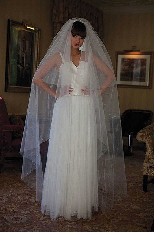 Cairo Scattered Diamante Wedding Veil