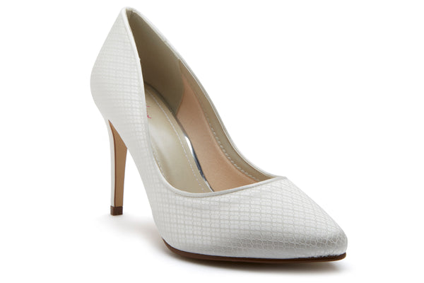 'Cassidi' Ivory Cosmic Lace Court Shoes SIZE UK 5 (EU 38) Sale!