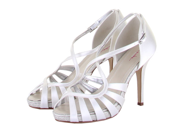 'Cassie' - Ivory Strappy Sandal Shoes SALE  *£41 OFF!!