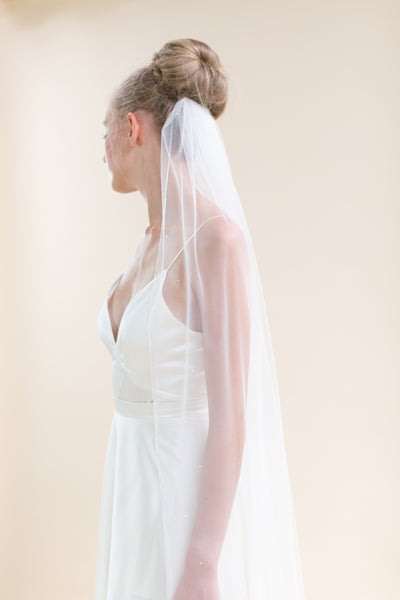 Rainbow Club's Celeste is beautiful bridal veil with twinkling diamante detail