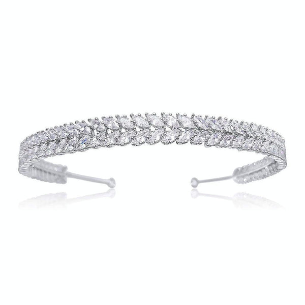 Pink Daisy Bridal's Platinum collection, the Charlize headband by Starlet Jewellery
