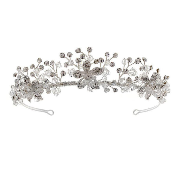 Clarence Swarovski Crystal Tiara from Starlet Jewellery is presented to you by Pink Daisy Bridal.