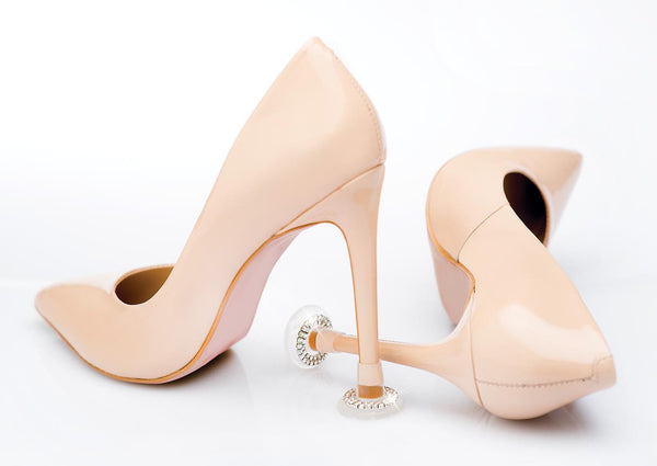 'Clean Heels' Bridal Cut Crystal Heel Stoppers