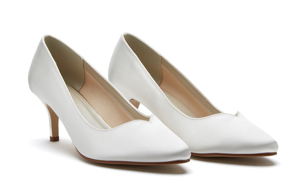 'Elizabeth' Sweetheart Throat Court Shoe UK 8 (EU 41) Sale!