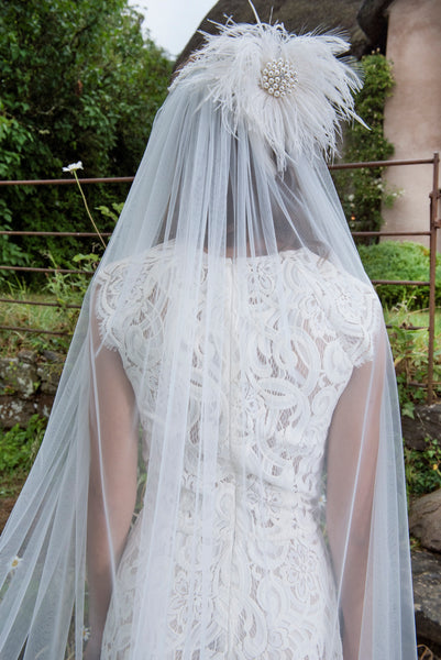 'Flamenco' Feather Edged Veil