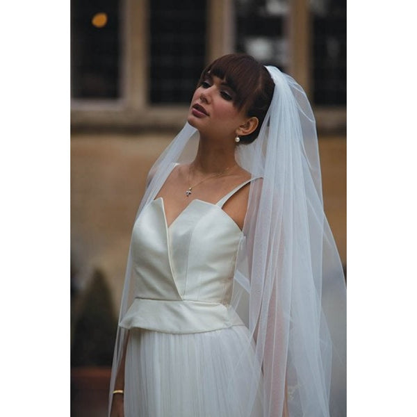'Georgia' Embroidered Motifs Veil