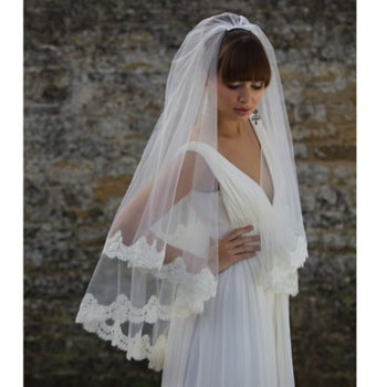 'Jeddah' Corded Lace Edged Veil