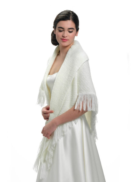 poncho style stole S172 by Poirier from Jupon. Designed to be draped over your shoulders