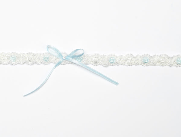 Lace Bridal Garter with a bow