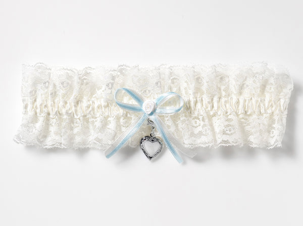 Luxury Lace Bridal Garter & Heart Locket