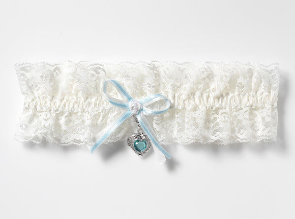 Luxury Lace Bridal Garter & Locket