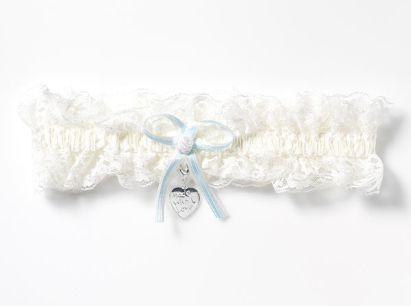 'Made with Love' Luxury Lace Bridal Garter & Charm