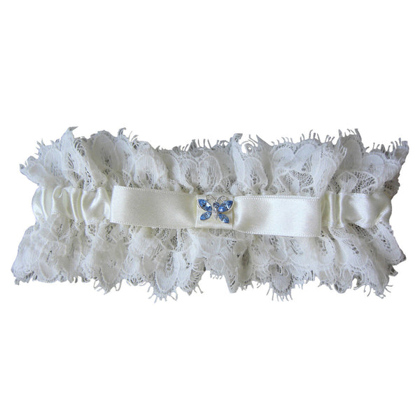 'Blue Butterfly' Lace Bridal Garter