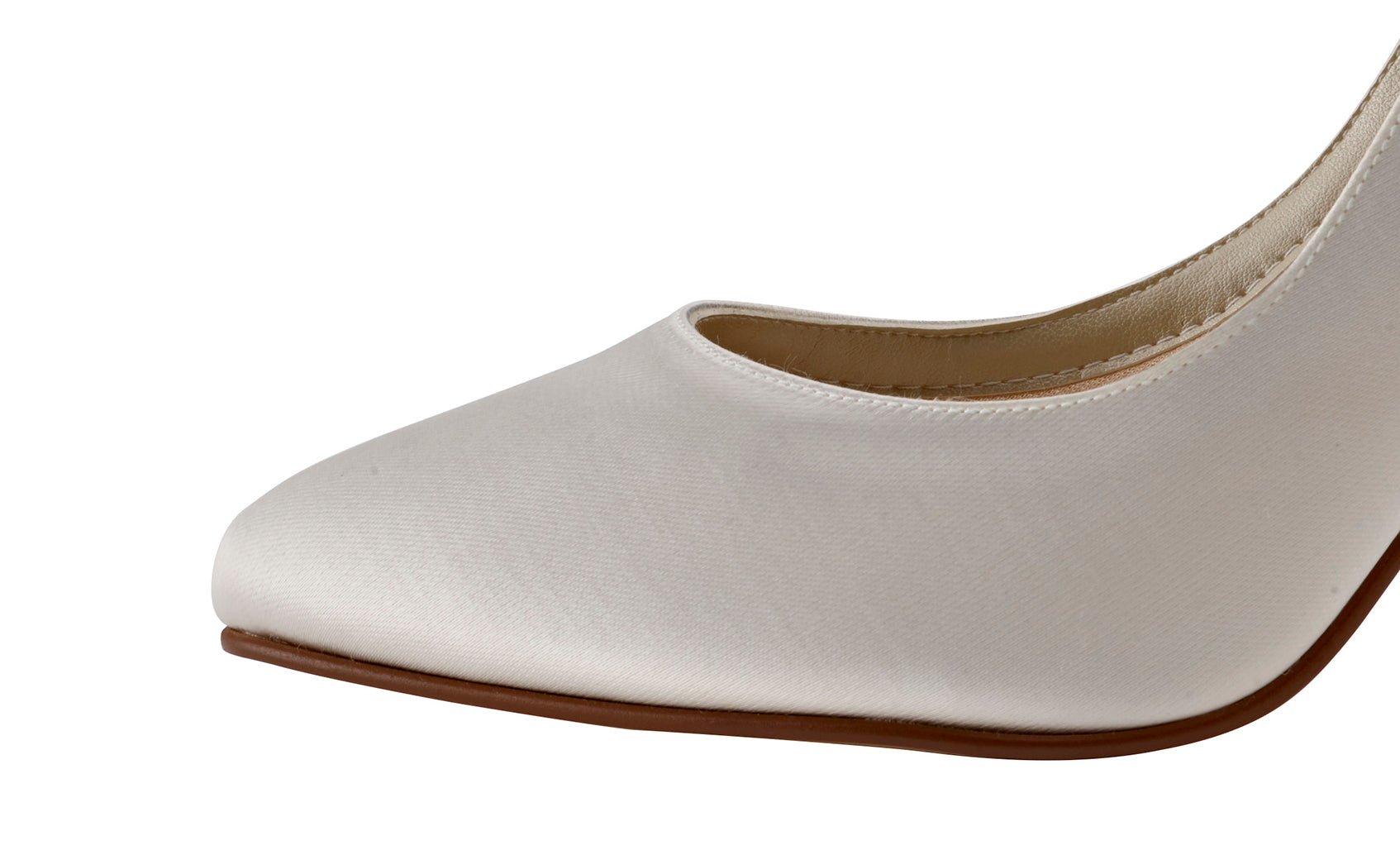 5112977f28ba ... Lillie bow detail ivory satin shoes by Rainbow Club for Pink Daisy  Bridal ...