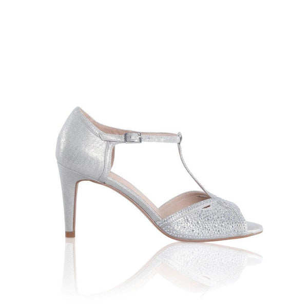Luna silver and diamante crystal sandals by the perfect bridal company for Pink Daisy Bridal