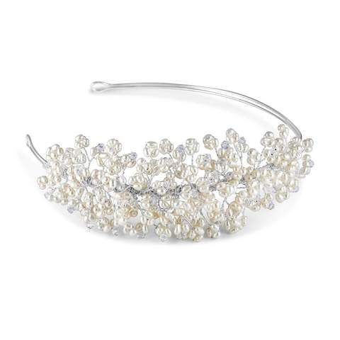 Monaco Side Tiara at pink Daisy Bridal crafted for the classical bride in mind, by Starlet Jewellery