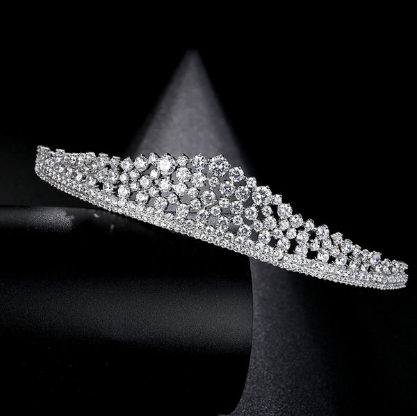 'New York' Simulated Diamond Traditional Tiara