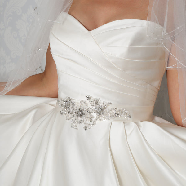 Floral & Leaf Applique Bridal Belt