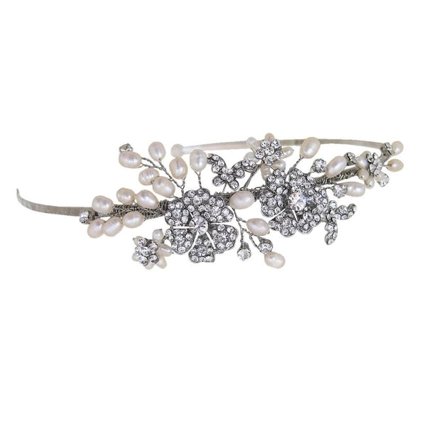Papillon Side Tiara at Pink Daisy Bridal takes inspiration from vintage beauty