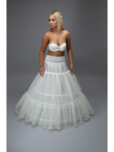 Jupon 112N is a two tiered bridal petticoat, the perfect solution in adding structure to your dress