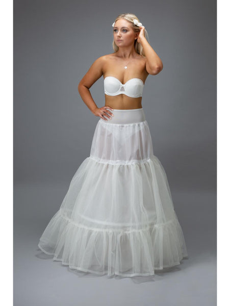 Jupon 115 is a two tiered bridal petticoat, the perfect solution in adding structure to your dress