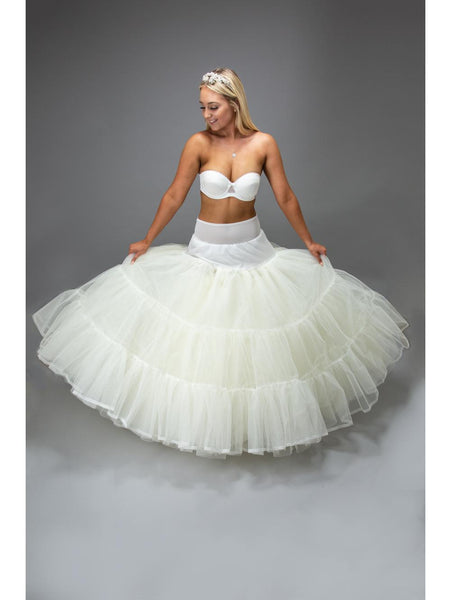 Jupon 185 petticoat 13 layers of net and 2 plastic coated hoops ideal for the fullest of dresses