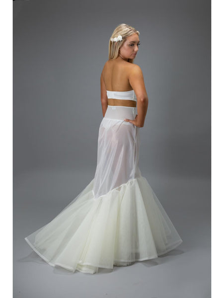 This Jupon Bridal Petticoat is the perfect solution for your Fishtail wedding dress with a train