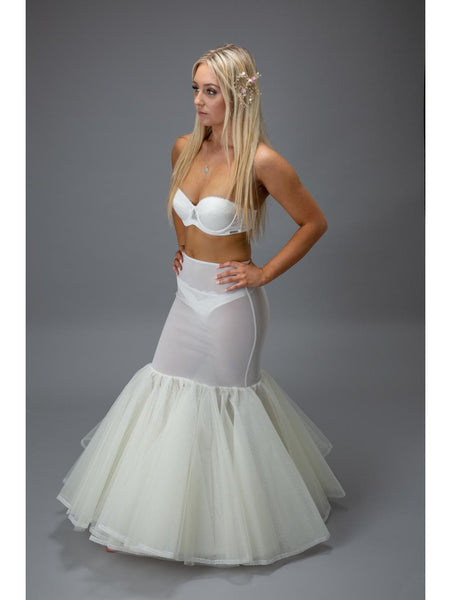 Jupon 190 Petticoat perfect for Fishtail shaped dress fits close to hips 3 layers of net over a hoop