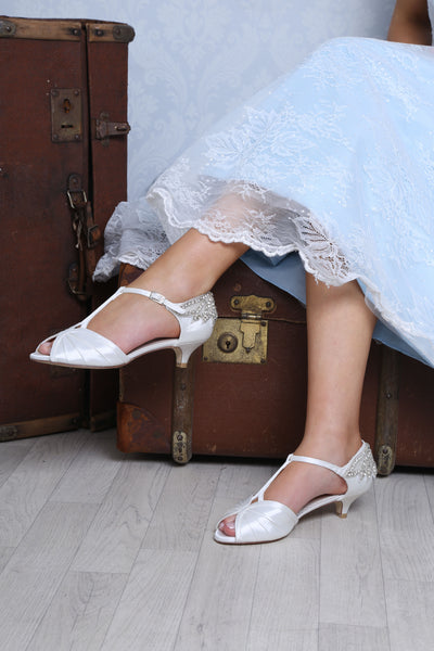Rosetta vintage bridal sandal by the perfect bridal company for Pink Daisy Bridal