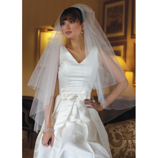 'Seattle' Scattered Diamante Veil